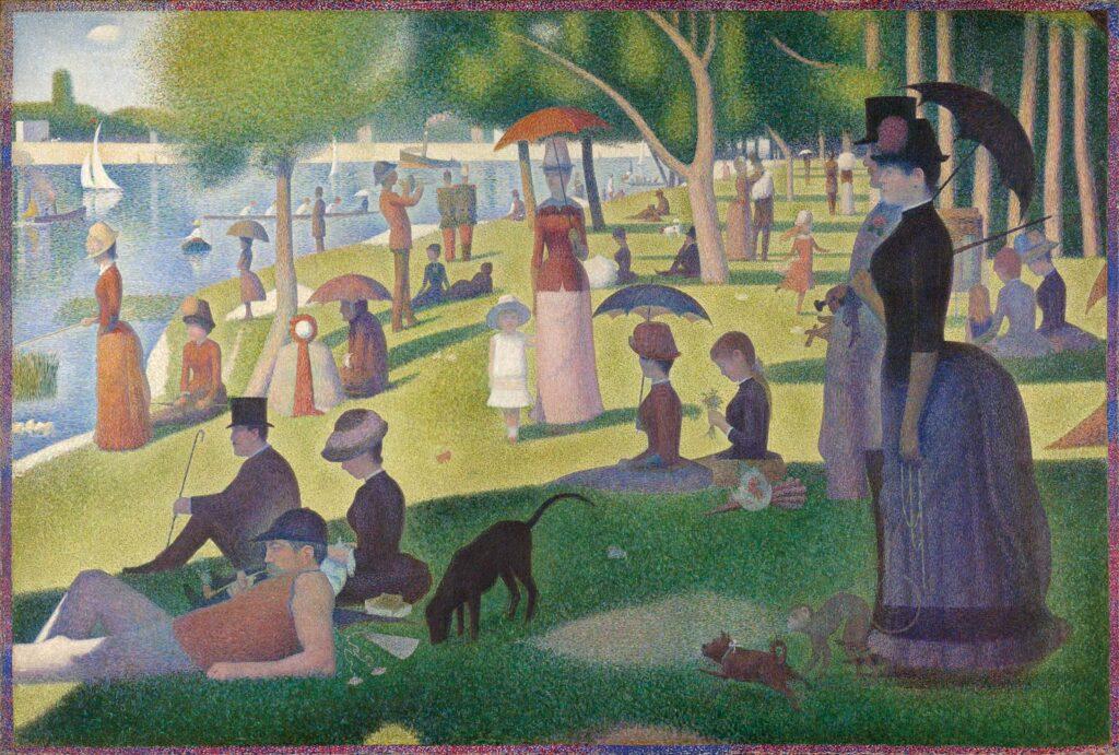 Georges Seurat – Un dimanche après-midi à l' île de la Grande Jatte, 1884